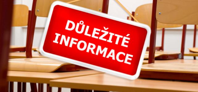 Informace k začátku školního roku 2021-2022